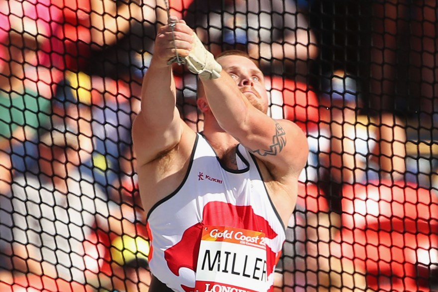 Record-breaking Miller wins England's first athletics gold