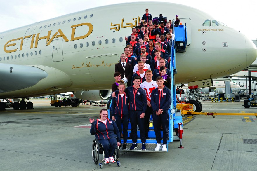 Team England arrive home after Gold Coast success