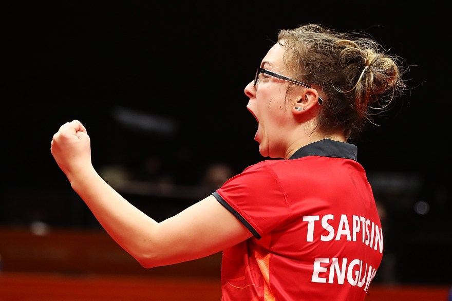 Tsaptsinos reveals motivation behind table tennis success