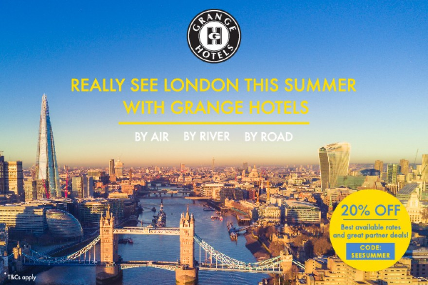 Enjoy 20 per cent off London attractions this summer with Grange Hotels